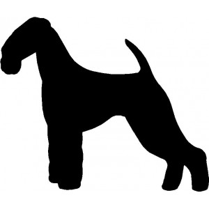 Dog Silhouette Wall Art Magnetic Memo: Airedale Terrier