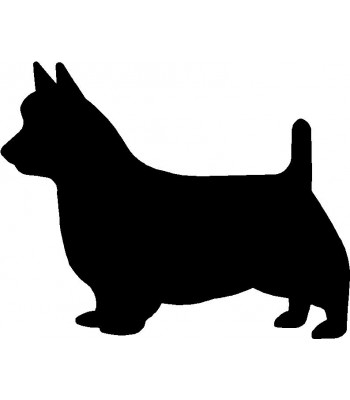 Dog Silhouette Wall Art Magnetic Memo: Australian Terrier