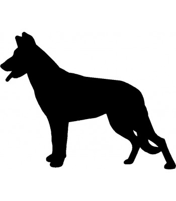 Dog Silhouette Wall Art Magnetic Memo: Beauceron