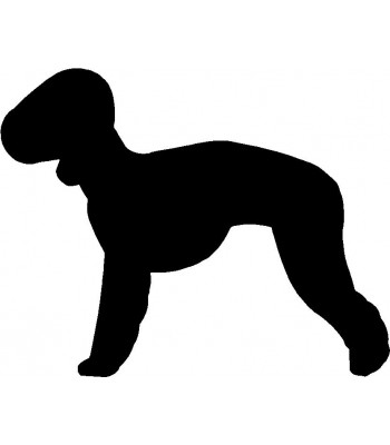 Dog Silhouette Wall Art Magnetic Memo: Bedlington Terrier