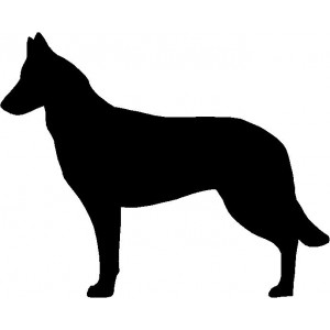 Dog Silhouette Wall Art Magnetic Memo: Belgian Malinois