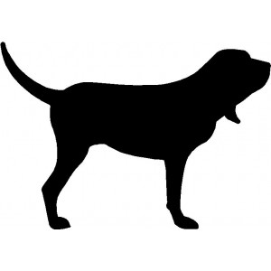 Dog Silhouette Wall Art Magnetic Memo: Bloodhound
