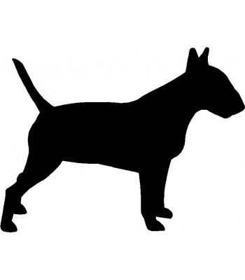 Dog Silhouette Wall Art Magnetic Memo: Bull Terrier