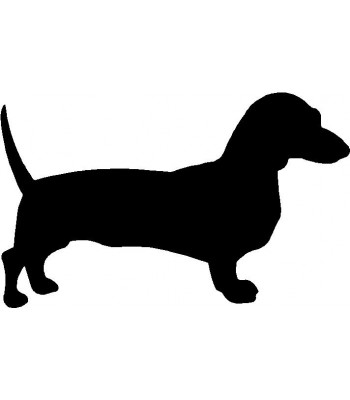 Dog Silhouette Wall Art Magnetic Memo: Dachshund