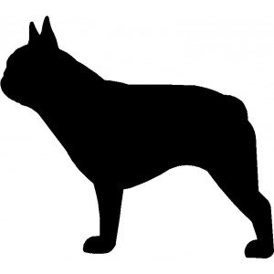 Dog Silhouette Wall Art Magnetic Memo: French Bulldog