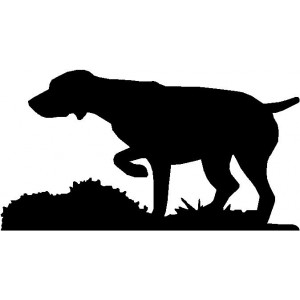 Dog Silhouette Wall Art Magnetic Memo: German Shorthaired Pointer on Point