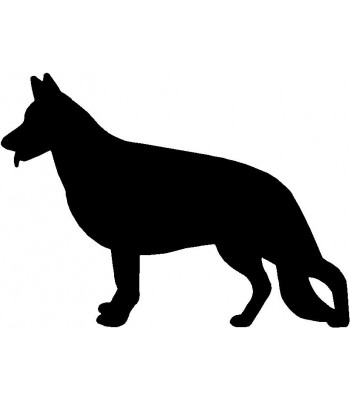 Dog Silhouette Wall Art Magnetic Memo: German Shepherd Standing