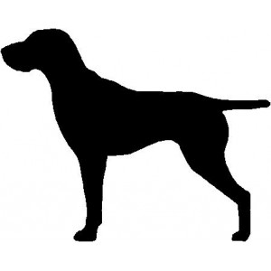 Dog Silhouette Wall Art Magnetic Memo: German Shorthaired Pointer