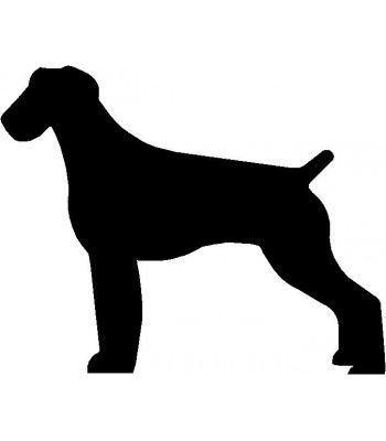 Dog Silhouette Wall Art Magnetic Memo: German Wirehaired Pointer