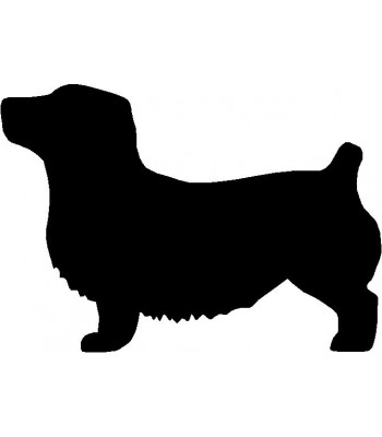 Dog Silhouette Wall Art Magnetic Memo: Glen of Imaal Terrier