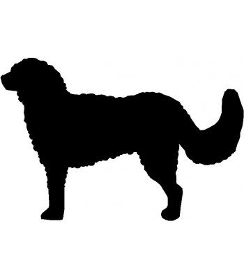 Dog Silhouette Wall Art Magnetic Memo: Goldendoodle