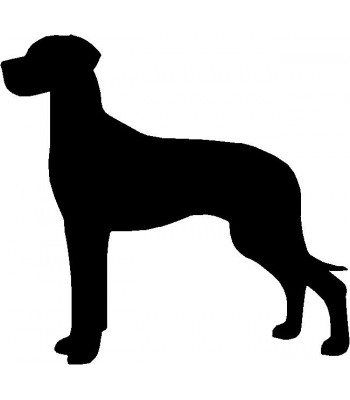 Dog Silhouette Wall Art Magnetic Memo: Great Dane