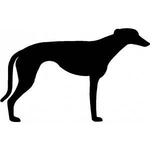 Dog Silhouette Wall Art Magnetic Memo: Greyhound