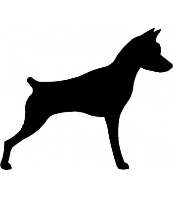 Dog Silhouette Wall Art Magnetic Memo: Miniature Pinscher