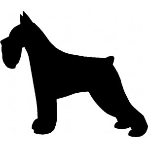 Dog Silhouette Wall Art Magnetic Memo: Miniature Schnauzer