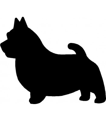 Dog Silhouette Wall Art Magnetic Memo: Norwich Terrier