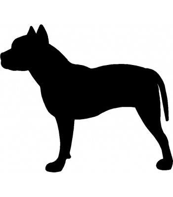 Dog Silhouette Wall Art Magnetic Memo: Pit Bull Terrier