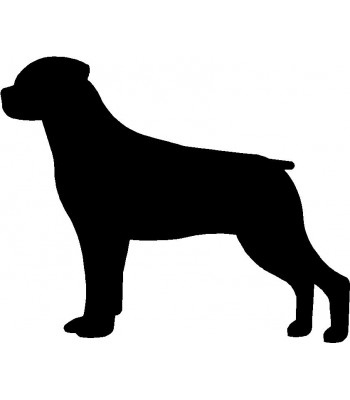 Dog Silhouette Wall Art Magnetic Memo: Rottweiler