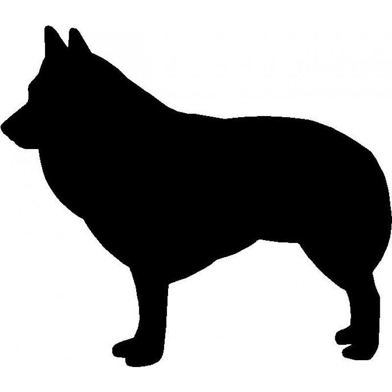 Dog Breed Silhouette Wall Hanging Magnetic Memo Schipperke