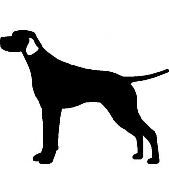 Dog Silhouette Wall Art Magnetic Memo: Smooth Pointer