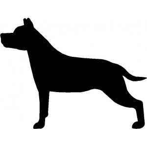 Dog Silhouette Wall Art Magnetic Memo: Staffordshire Terrier