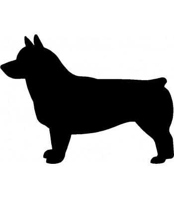 Dog Silhouette Wall Art Magnetic Memo: Swedish Vallhund