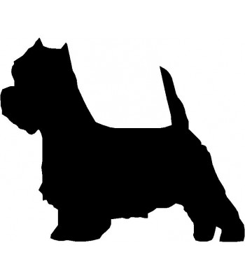 Dog Silhouette Wall Art Magnetic Memo: West Highland Terrier