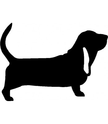 Dog Silhouette Wall Art Magnetic Memo: Basset Hound