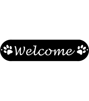 Dog Paws Welcome Sign #b lower case