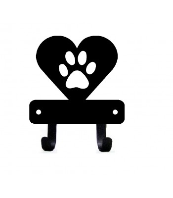 Mini Heart Dog Paw - Key Rack