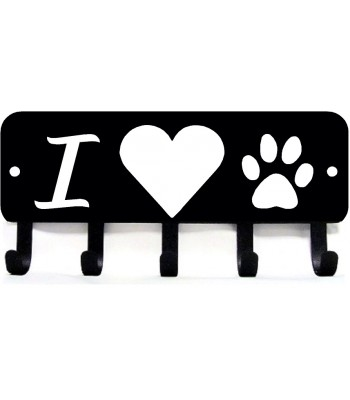I heart dog paw - Key Rack/ Leash Hanger