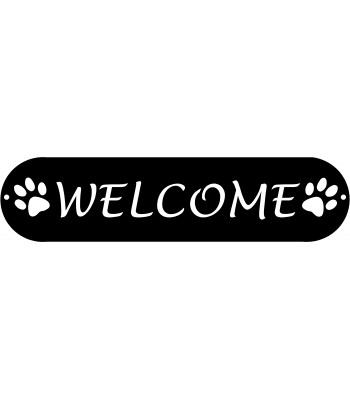 Dog Paws Welcome Sign #A caps
