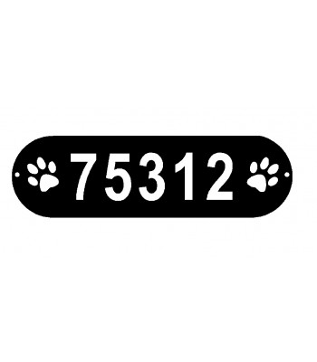 PAWS plaque for House Address Numbers or Name