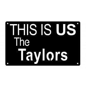 THIS IS US Personalized Name Plaque