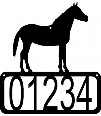 Horse 1 House Address Sign