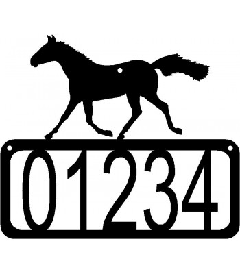 Horse 2 House Address Sign