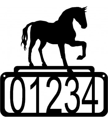 Horse 60A House Address Sign