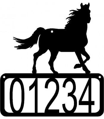 Horse 7 House Address Sign
