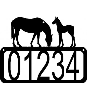 Horse, Mare & Foal, House Address Sign