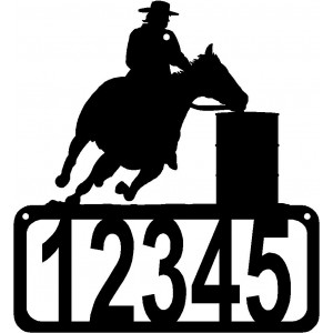 Barrel Racer House Address Sign