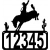 Bucking Bronco House Address Sign