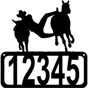 Bulldogging Rodeo/ Ranch House Address Sign