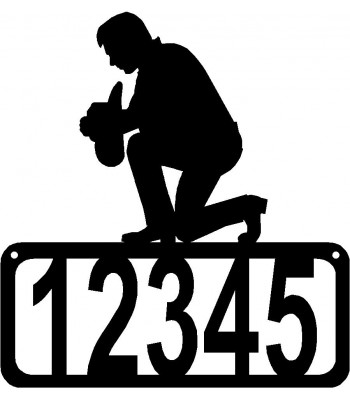 Kneeling/ Praying Cowboy House Address Sign