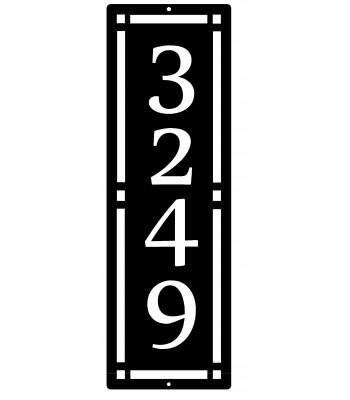 A&C style Address Sign - Vertical
