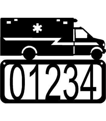Ambulance EMT House Address Sign