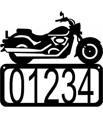 Motorcycle #12 House Address Sign
