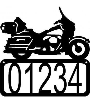 Motorcycle #3 House Address Sign
