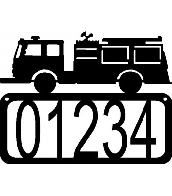 Fire Truck/ Fire Engine House Address Sign