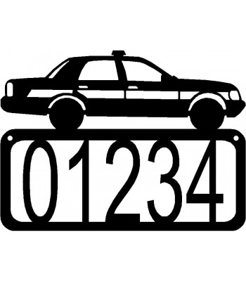 Police Car/ Cruiser House Address Sign