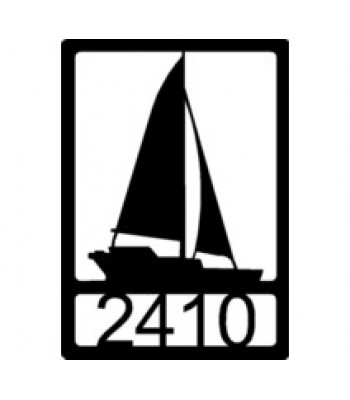 Sailboat Personalized Address Sign